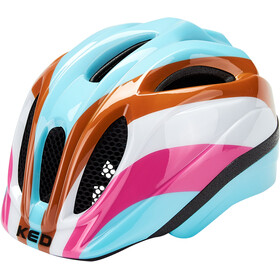 KED Meggy II Trend Helm Kinder rainbow retro blue
